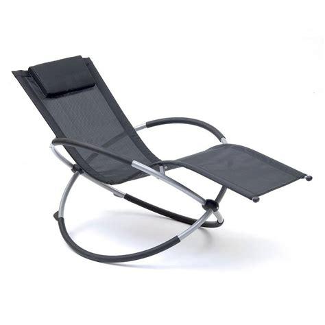 rocking garden chair orbit garden recliner by garden selections