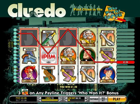 cluedo slot machine game  play dbestcasinocom