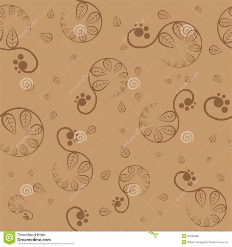brown pattern vector seamless brown floral pattern vector royalty free stock