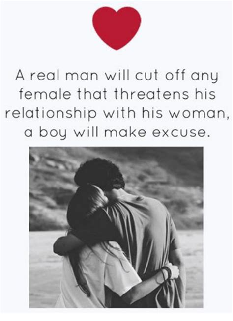 A Real Man Meme - a real man will cut off any female that threatens his