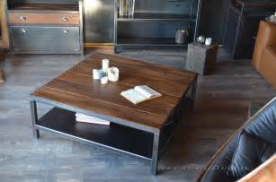table basse industrielle style industriel micheli design