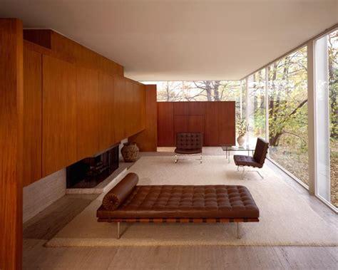 Mid Century Modern Bathroom Design by The Glass House Mies Van Der Rohe S Farnsworth House