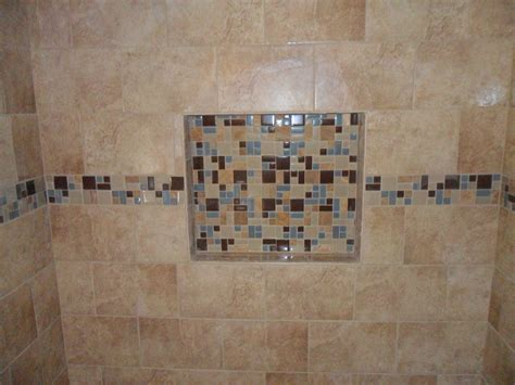 bathroom tile shower shelves share