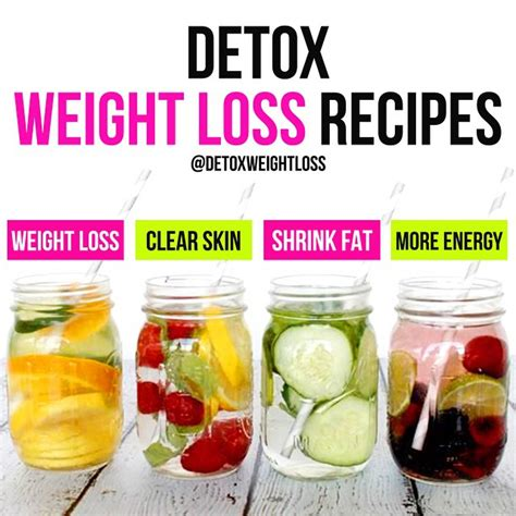 Detox For Loss by Detox Water Recipes For Weight Loss