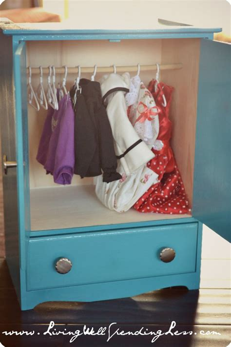 Doll Clothes Wardrobe by Diy American Doll Bed Part 2 Living Well Spending