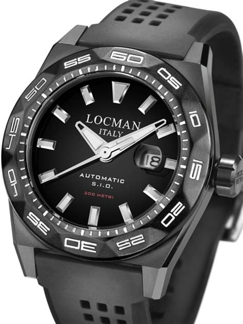 Locman 300 Meter Automatic Dive Watch 46mm PVD case