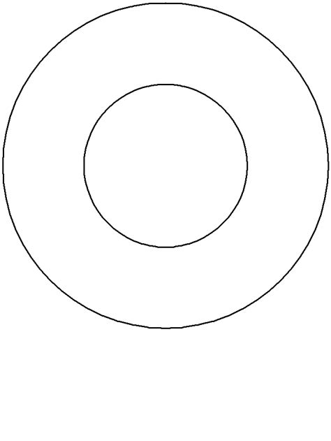 donut simple shapes coloring pages coloring book