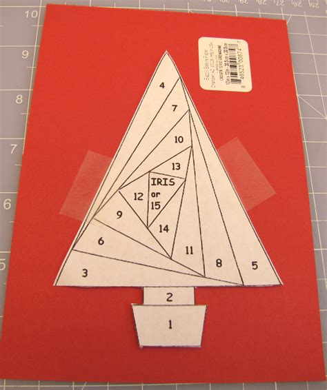 Folded Paper Cut Out Patterns - iris paper folded tree handmade card favecrafts
