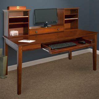 Best Deals On Desks Medium Brown Hutch With Writing Desk