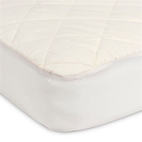 Sealy Organic Crib Mattress Sealy 174 Quilted Crib Mattress Pad With Allergy Protection Organic Cotton Top Buybuy Baby