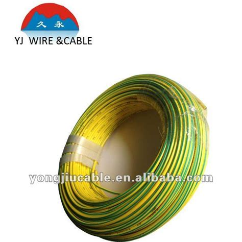 yellow ground wire yellow green earth grounding ground cable view yellow