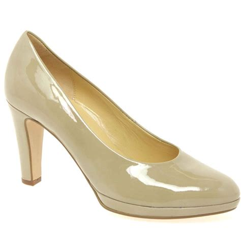 beige shoes gabor gabor splendid beige patent court shoe