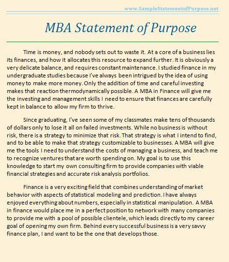 When Do Mba Applications Become Available by Sle Statement Of Purpose You May Not Realize It But