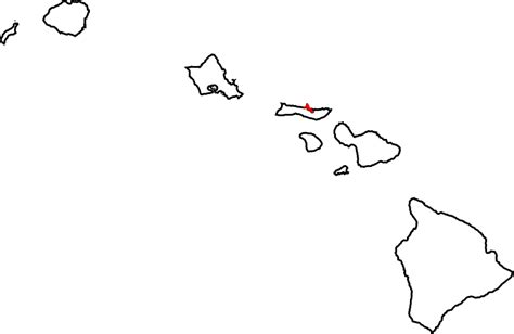 coloring page map of hawaii file map of hawaii highlighting kalawao county svg