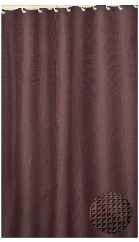 brown waffle shower curtain carnation home fashions waffle weave fabric shower curtain