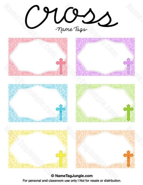 large printable name tags free printable cross name tags the template can also be