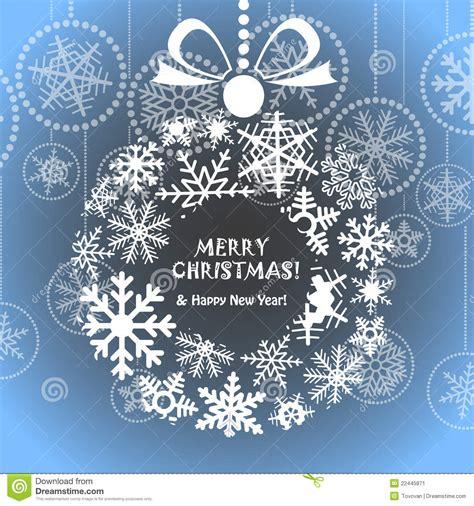 blue christmas greeting card stock vector image