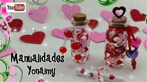 manualidades para dia del amor y la amistad botellita con corazones para el dia del amor y la amistad