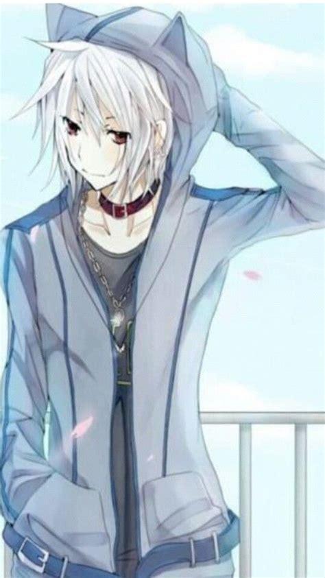 anime zip my name haru me age 17 i always wear a hoodie with cat