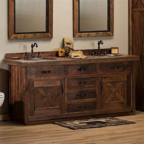 bathroom barn wood vanities rustic bathroom vanities for
