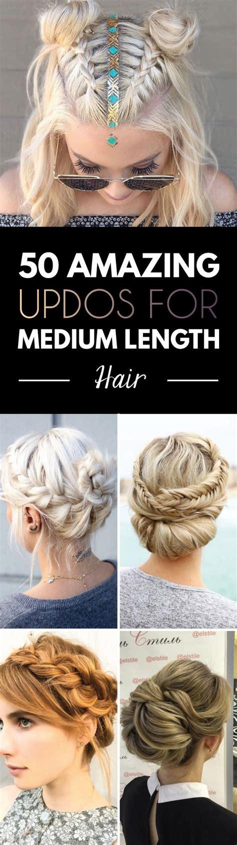 Wedding Hairstyles For Medium Length Hair Step By Step by 50 Amazing Updos For Medium Length Hair Style Skinner
