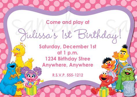 free sesame birthday invitation templates sesame birthday invitation elmo birthday invitation