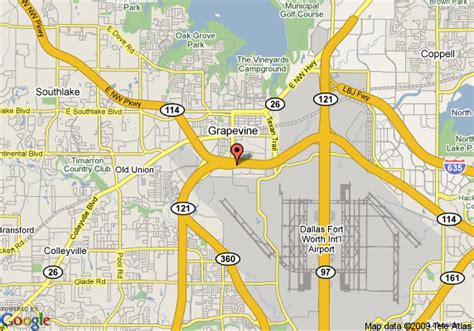 map of grapevine texas map of 8 motel grapevine dfw airport northwest grapevine