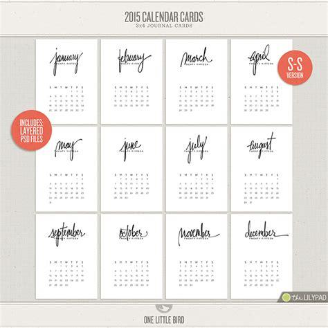 printable calendar cards 2015 calendar cards one little bird