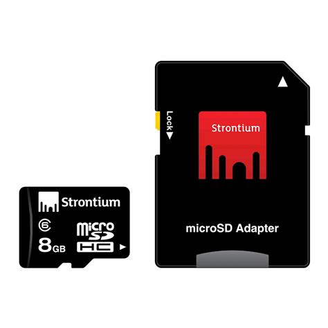 Micro Sd Strontium 8gb strontium microsdhc card with adapter 8gb class 6 prices features expansys singapore s