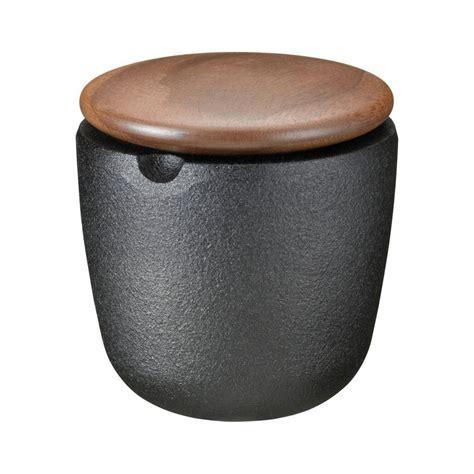 skeppshult swing skeppshult swing cast iron salt bowl walnut lid sportique