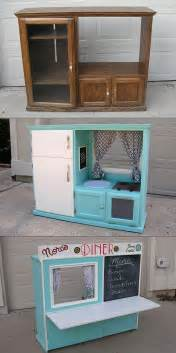 play kitchen from furniture turn an cabinet into a kid s diner entertainment