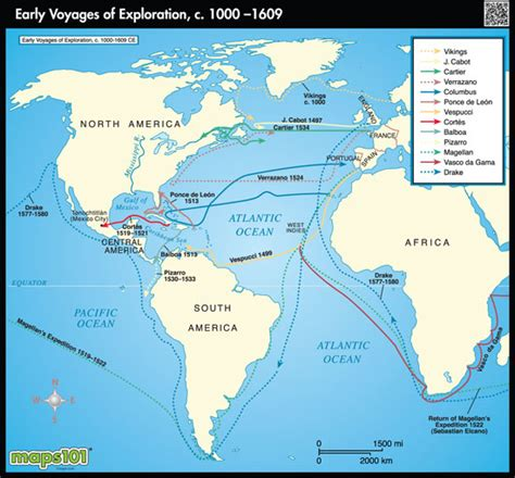 american explorers map world exploration map early voyages by maps from maps