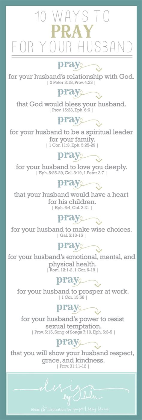 how to pray with prayer 10 ways to pray for your husband or infographic a day