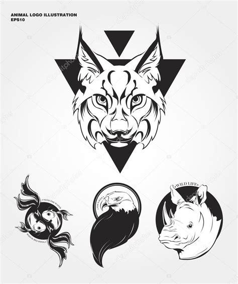 imagenes vectores logos logotipos de animales salvajes de hipster vector de