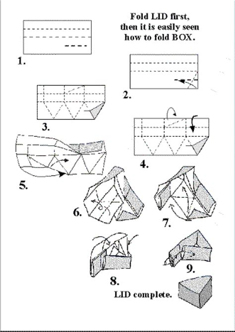 triangular box origami boxes containers