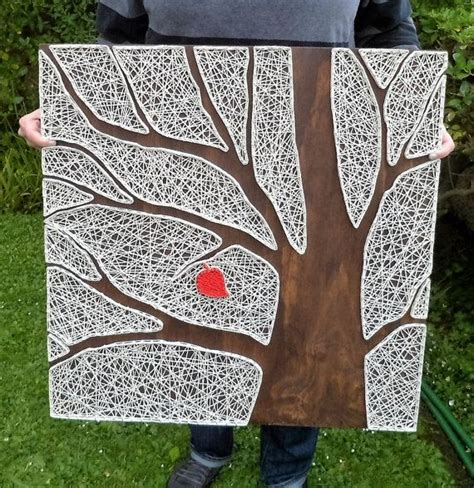 string wall tree tree string large oversized wood wall gallery wall decor string family tree