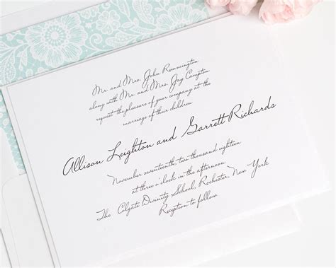 should wedding invitations envelopes be handwritten handwritten inspired wedding invitations in mint wedding