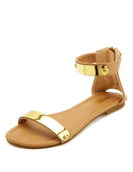 russe sandals gold plated single flat sandals russe