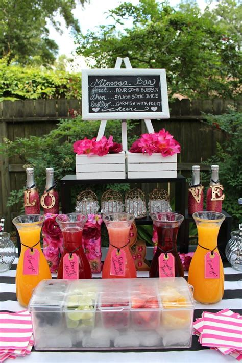 bar ideas for baby shower 25 best ideas about mimosa bar on brunch