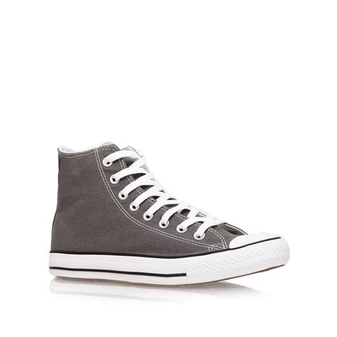 Converse Hi Gray converse all hi in gray for grey lyst
