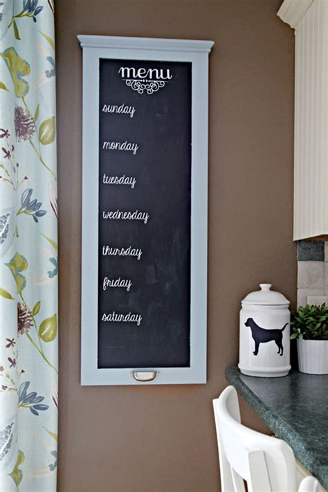 Kitchen Menu Board by Iheart Organizing Kitchen Challenge Meal Planning
