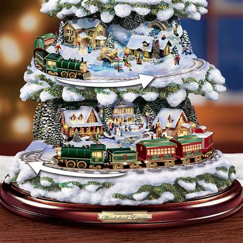 thomas kinkade wonderland express animated tabletop