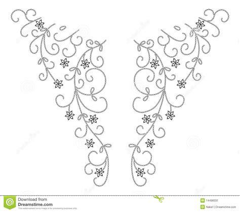 fashion design necklines neckline henna fashion design stock image image 14498331