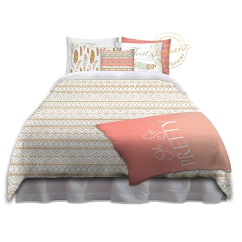 cute dorm bedding cute girl dorm bedding bohemian gold dorm bedding oh so pretty collection 286