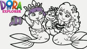 dora explorer mermaid princess nick jr coloring book game children