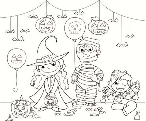 halloween birthday coloring page halloween coloring costume party and decorations coloring