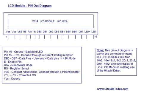 lcd 4 pin wiring diagram wiring diagrams