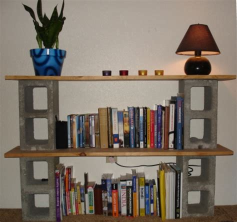 How To Build A Bookshelf Out Of Cinder Blocks And Boards Block Bookshelves