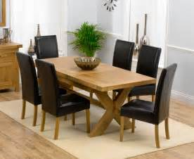 Extending Dining Room Table And Chairs Bellano Solid Oak Extending Dining Table Size 160 200cm 6 Monaco Chairs