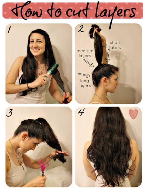 how to cut your own hair shoulder length how to make a layered haircut on your own pretty designs